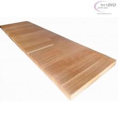 """מדף עץ בוצ'ר אלון 70*23 ס""""מ עובי 26 ממ צבוע לכה ומוכן לשימוש"""