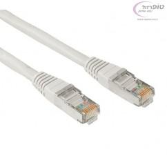 כבל רשת cat5e מסוכך מוכן לשימוש באורכים לבחירה 0.3 - 3 מטר כולל קונקטורים RJ45