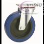 """גלגל מסתובב צמיג כחול איכותי ללא בלם קוטר 80 - 200 מ""""מ לבחירה"""